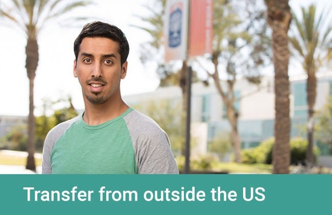Transfer from outside the US